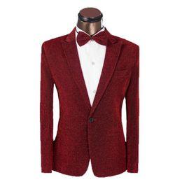$enCountryForm.capitalKeyWord UK - Nice New Vogue Men Suit Custom Golden Silk Suit Jacket Slim Fit Men Wedding Suit Groom Tuxedo For Men (jacket+pants+bowtie)4xl