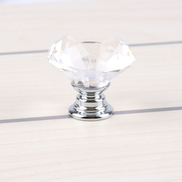 glass dresser drawer pulls handles 2019 - Free DHL 30mm Glass Cabinet Knob Drawer Shiny Polished Chrome Pull Handle Kitchen Door Wardrobe Hardware Used For Chest