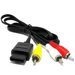 China 1.8M 6FT AV TV 3 RCA Video Cord Video Cable For Game cube for SNES GameCube for Nintendo for N64 64 N NGC N64AV NGCAV 1000PCS LOT suppliers