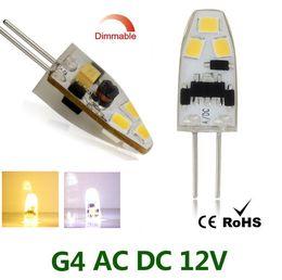 G4 Energy Saving Bulb Australia - Energy-saving Dimmable Crystal Lamp Bulb G4 6 LEDs 2835 SMD Silicone Corn Bulb 12V Candle Lamp Bulb Crystal Chandelier Lighting