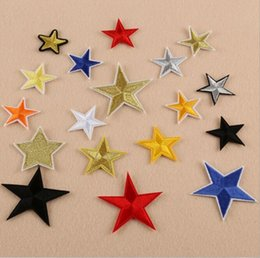 patches for clothes free shipping NZ - Tr clwo sets of Star Patches iron on Embroidered Patches for Clothes Stickeothing applique embroidery parches DIY For Cloth Free shipping