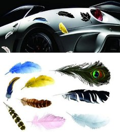 $enCountryForm.capitalKeyWord Canada - reflective Car Stickers feather color Decal cover anti scratch UV water for body Light brow door bumper rearview mirror window etc