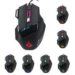 Cool Usb Mouse NZ - Wholesale- Computer Accessories Cool 5500 DPI 7 Button LED Optical USB Wired Gaming Mouse Mice For Pro Gamer New