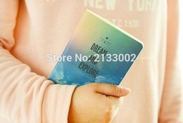 Wholesale Notebook Exercise Books Canada - Wonderful Galaxy Star Sky A6 A5 B5 Notebook Diary Book Exercise Composition Notepad Escolar Papelaria Gift Stationery For Girl