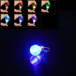 rings lamp NZ - LED Flashlight Light Bulb Key Ring Keychain Lamp Torch Colorful
