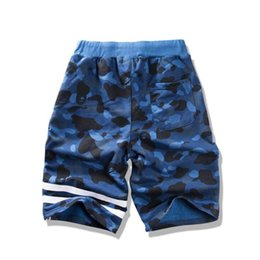 Discount camouflage short pants for men - New tide hip hop shorts for men fashion camouflage loose drawstring shorts men sport shorts streetwear male shark pants