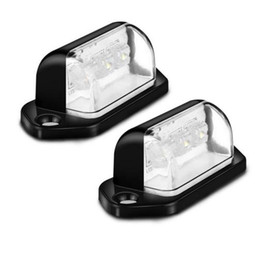 trailer lights 2019 - 1 Pair 12V 3LEDs Number Licence Plate Light Rear Tail Lamp Truck Trailer Lorry Auto Lights White for Ford BMW Toyota Vol
