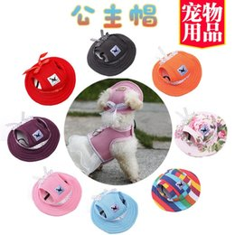 Sun hat princeSSeS online shopping - Pet Cap Ventilation Net Cloth Sun Hat Outdoors Sunscreen Breathable Grooming Colorful Princess Lovely Hats Thin Baseball Caps ww J1
