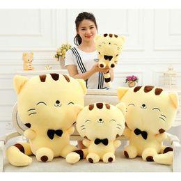 $enCountryForm.capitalKeyWord Australia - Creative Funny Cute Big Tail Smile Cat And Plush Toy Doll Pillow Cushions Birthday Gift(18cm 28cm 38cm)