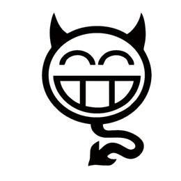 devil head car decal 2019 - New Product Shocker Devil Smilie Car Styling Personality Humorous Car Sticker Vinyl Decal Monster Smiling Face discount