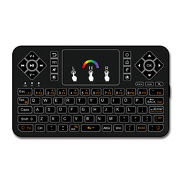 Discount google tv mouse - Q9 Mini Keyboard 2.4GHz Wireless Keyboard RGB Backlit Touchpad for Android Google Smart TV Air Mouse Mini Teclado VS I86