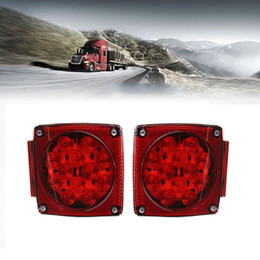 $enCountryForm.capitalKeyWord Canada - Pair Square Tail Brake Lights Kit Water Resistant LED Side Marker for Boat  Trailer Stop License Tail Brake