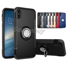 $enCountryForm.capitalKeyWord NZ - Case For iPhone X 7 6 6S Plus Car Holder Stand Magnetic Suction Bracket Finger Ring PC+TPU Rugged Armor Cover For Samsung Note8
