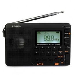 Sw Pack Australia - TIVDIO V-115 FM AM SW Radio Multiband Radio Receiver Bass Sound MP3 Player REC Recorder Portable Radio with Sleep Timer F9205A