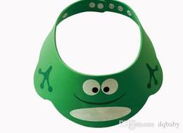 $enCountryForm.capitalKeyWord Australia - New Style 3 Colour Resizable Baby Shower Caps Cartoon Cute Childen EVA Matirial Shampoo Wash Hair For Kids