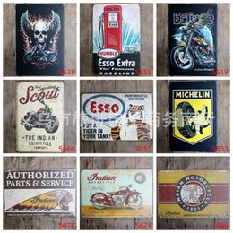 Vintage motorcycle posters online shopping - Classical cm Vintage Metal Tin Sign Motorcycle Company Frameless Tin Posters Performance Motoring Iron Painting Arts rjZ