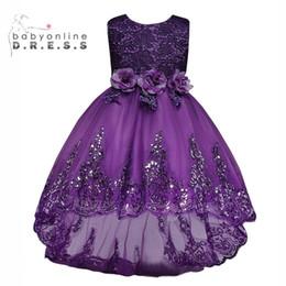 0c7915b7f4 2017 nuevos vestidos baratos del desfile de la muchacha púrpura lindo  bordado de lentejuelas princesa vestido de bola vestidos de la muchacha de  flor larga ...