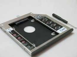thinkpad hard drives 2019 - Wholesale- 2nd SATA Hard Drive HDD SSD Caddy Adapter with Bezel front panel and bracket for Lenovo ThinkPad T440P T540 T