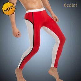 $enCountryForm.capitalKeyWord NZ - High Stretch 2017 New Nylon jogger Crossfit Base Layer Mens Tight Skinny Thermal Bodybuilding Leggings Spliced Men Shapers Pants 6color