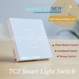 $enCountryForm.capitalKeyWord Canada - Wholesale-EU Standard Broadlink TC2 2 gang Smart Switch,Network Wireless Remote Control Wall WiFi Light Touch Screen Smart Home Switch