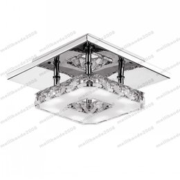 Industrial chandelier crystals online industrial chandelier modern led crystal ceiling light 12w fixture square surface mounted crystal lamp for hallway corridor asile light chandeliers ceiling myy aloadofball Image collections