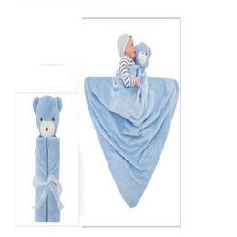 $enCountryForm.capitalKeyWord Canada - Kavkas Baby Blanket Coral Fleece Plush Baby Bedding Animal Toy Head Plush Gift For Newborn Baby Soft Warm Animal Toy Head Blankets