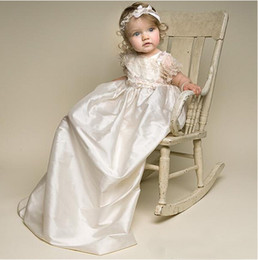 $enCountryForm.capitalKeyWord Canada - Princess Little Baby Christening Dresses For Girls 2017 Cheap Applique Lace Satin Formal Party Baptism Toddler Infant Gowns