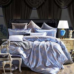wholesale luxury silk cotton jacquard 4pcs bedding set 20colors duvet cover bed linen set bed sheet pillowcase bedclothes king queen full
