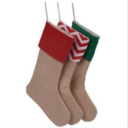 $enCountryForm.capitalKeyWord Australia - 12*18inch 2017 New High Quality Canvas Christmas Stocking Gift Bags Xmas Stocking Christmas Decorative Socks Bags