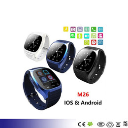 $enCountryForm.capitalKeyWord Canada - M26 Bluetooth Smartwatch Watch Smart Watch Wrist Watches for Samsung S4 S5 s6 s7 edge Note 4 5 6 7 HTC huawei xiaomi Android Phone Smartpho
