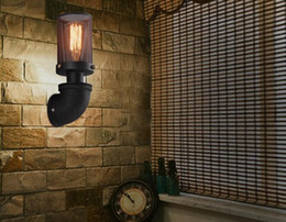 $enCountryForm.capitalKeyWord NZ - Edison Loft Industrial Vintage Wall Lamp Retro Water Pipe Lamp Wall Sconce Creative Iron Mesh Antique Wall Light Fixtures Lamparas Lighting