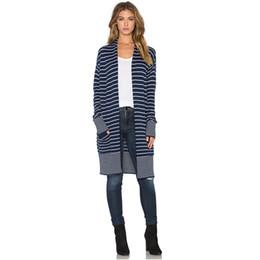 $enCountryForm.capitalKeyWord UK - Wholesale- 2017 Winter Fashion Brand Cool Pocket Knitted Sweater Women Long Sleeve Striped Female Cardigan Casual Poncho Long Cardigans