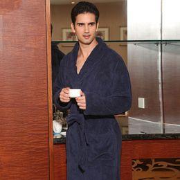 c75b6c9314 Plus size men bathrobe cotton women nightgown thickening bathrobe winter  sleepwear blanket towel fleece robe thickening lovers long soft