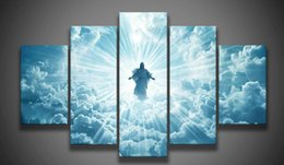 $enCountryForm.capitalKeyWord UK - Print 5 pcs canvas wall art print Jesus is coming painting art picture home Decor Canvas Art Print Painting on canvas no frame