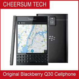 Wholesale new android 4g phones resale online - new arrival BlackBerry passport Q30 G TLE cell Phone BlackBerry OS Quad core GB RAM GB ROM MP Camera Original cellphone