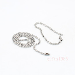 tibet products NZ - Cool 4mm Sausage chain fashion stainless steel silver Bamboo necklace bracelet jewelry sets Accept custom products, wholesale.