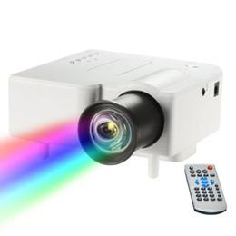 cheap portable player 2019 - UC28+ Home Mini Projector Cheap LCD Portable Projectors Multi-Media Player HDMI VGA USB SD AV Home Theater Cinema Good Q