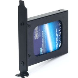 "internal ide cable UK - Wholesale- 2.5"" inch Hard Drive or SSD Internal PCI Slot Expansion Rear Bracket Tray Caddy Carrier Enclosure Rack"