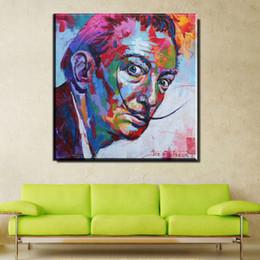 Dali Arts NZ - ZZ668 watercolor canvas posters and prints art salvador dali portrait paintings canvas pictures oil art prints for livingroom