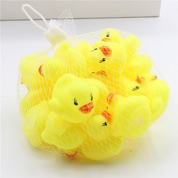 Baby Rattles Australia - 2017 Hot Sale Little Yellow Duck Baby Bathroom Water Toy Bath Toys Infant Sound Rattle Duck DHL Free Shipping