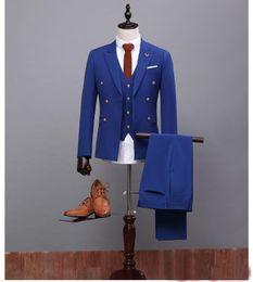 $enCountryForm.capitalKeyWord Canada - Groom Tuxedos Tailcoat Groomsman Blazer Men's Wedding Dress Prom Clothing Tuxedos (Jacket+pants+Vest) Black Long Style Male SuitFormal Occas