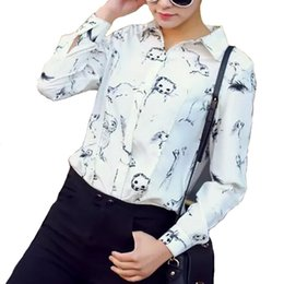 Discount Patterned Animal Blouse | 2017 Patterned Animal Blouse on ...