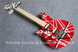 $enCountryForm.capitalKeyWord Australia - Edward Van Halen Wolf Music Man Ernie Ball Axis Red Black Stripe Red Electric Guitar Tremolo Bridge Maple Neck Abalone Dot Fingerbaord Inlay