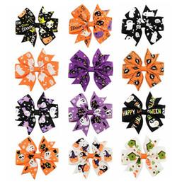 $enCountryForm.capitalKeyWord Canada - 3 inch Halloween Grosgrain Ribbon Bows WITH Clip Ghost Pumpkin Pinwheel Hair Clips Hair Pin Accessories