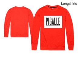 Pigalle Tee Canada - PIGALLE BOX LOGO Rocky tee Printed Men's T-Shirt T Shirt For Men New long Sleeve O Neck Cotton Casual Top Tee free shipping