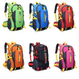 Camping Gear Box NZ - Outdoor Backpack Gear Hiking Camping Sport Cycling Bags Rucksack Trekking Backpacks 6 colors Polyester Fast Shipping