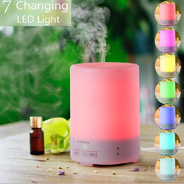 Aroma Night Light Wholesale Canada - 300ml Aroma Essential Oil Diffuser with night light Ultrasonic Air Humidifier with 8 HOURS Continuous Diffusing and AUTO Shut off for home
