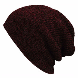 3a022c9da16 2016 Winter Beanies Solid Color Hat Unisex Plain Warm Soft Beanie Skull Knit  Cap Hats Knitted Touca Gorro Caps For Men Women