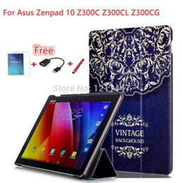 Wholesale NEW Fashion Magnet Leather Cover Stand Case for Asus Zenpad Z300C Z300CL Z300CG Tablet screen protector Stylus OTG