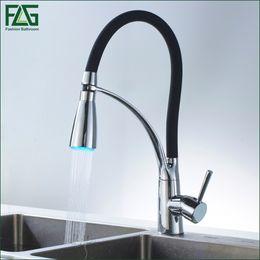 Black And Chrome Kitchen Faucets black led kitchen faucet online   black led kitchen faucet for sale